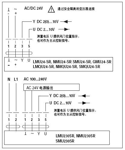 lmu230sr调节型风门执行器接线图