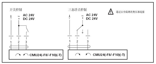 cmu24-f8-t风门执行器接线图