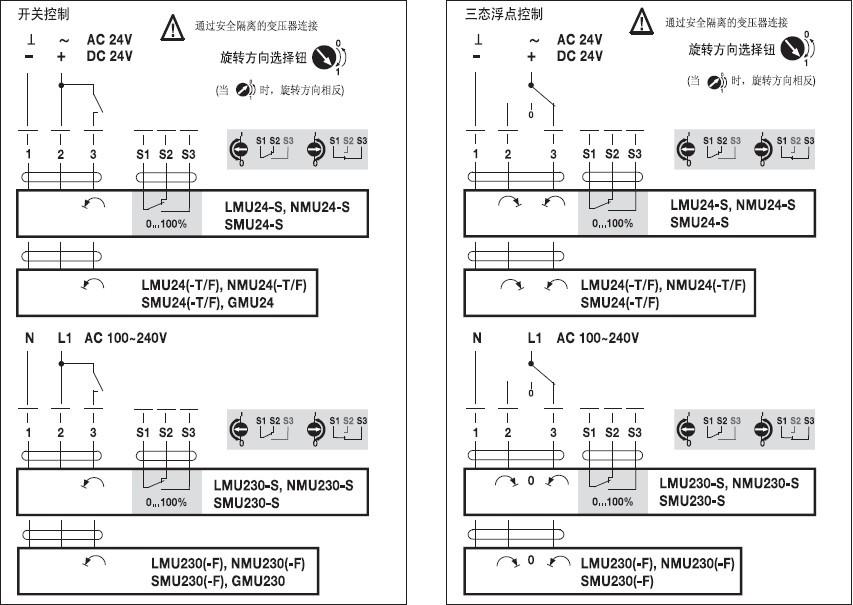 NMU24-F风门执行器接线图