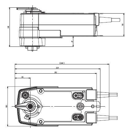 SRFU-5弹簧复位阀门执行器尺寸图