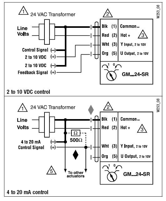 gmx24-sr电动执行器接线图