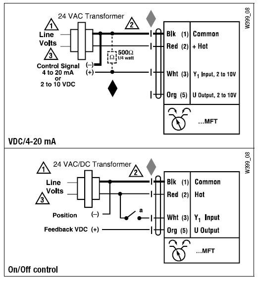 lmqx24-mft电动执行器接线图图片