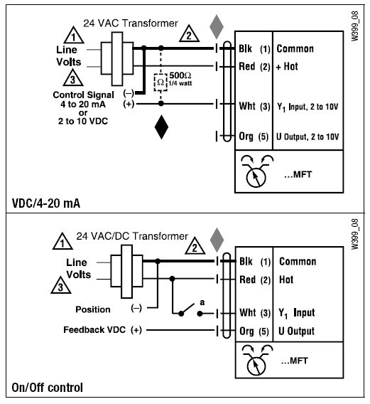 lmqx24-mft电动执行器接线图