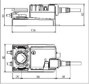 NMU24-F风门执行器尺寸图