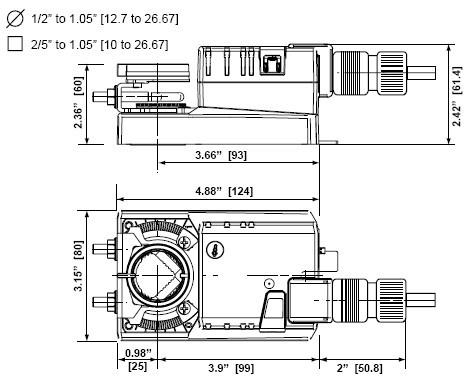 nmx120-3电动风阀执行器接线图图片