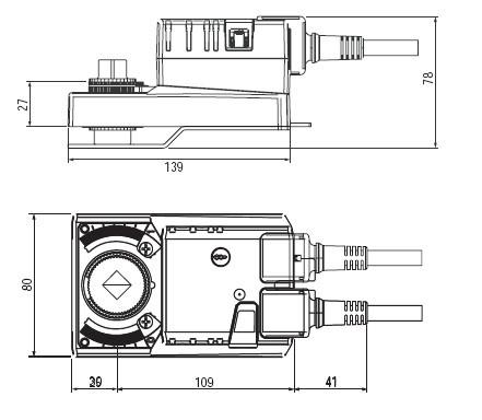 SRVU230-5非弹簧复位蝶阀执行器尺寸图