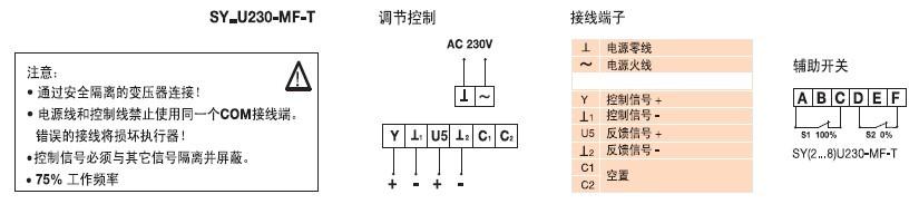 SY2U230-SR-T蝶阀执行器接线图