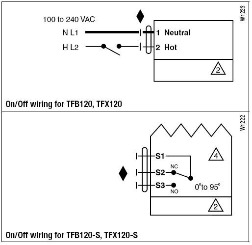 tfb120-s弹簧复位电动执行器接线图