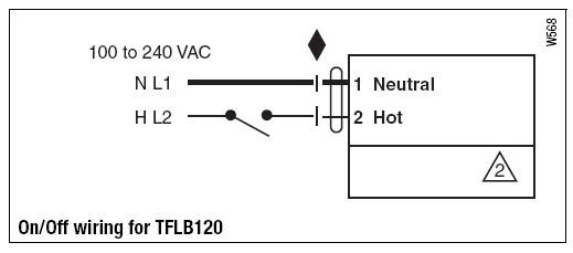 tflb120弹簧复位电动执行器接线图